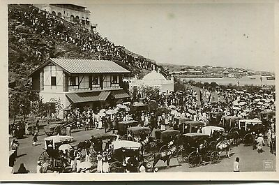 1920s postcard Crowds on Festival Day ADEN Africa
