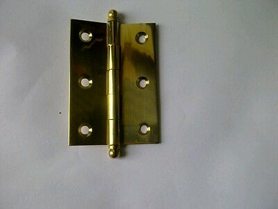 Polished Brass Butt Hinge Fixed Pin 85x60x2mm New Door Hardware Cabinets Quality