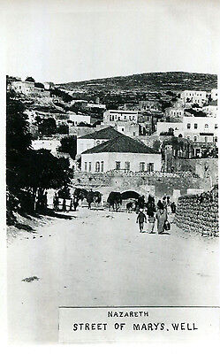 1920s postcard Street of Mary's well NAZARETH Palestine (now Israel)