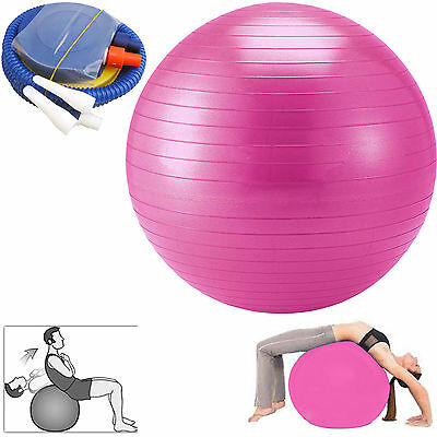 65cm Yoga Exercise Gym Swiss Ball  Fitness Anti Burst With Foot Pump
