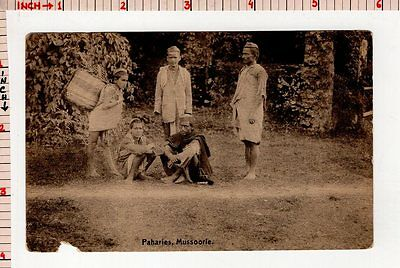 Paharies Mussoorie Archaeology Postcard, Monument Fort Statue India #3970