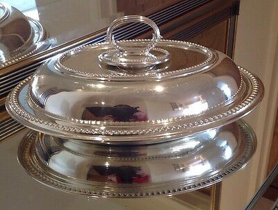 Antique Silver Plated Lidded Entree Dish By Alexander Clark Manufacturing