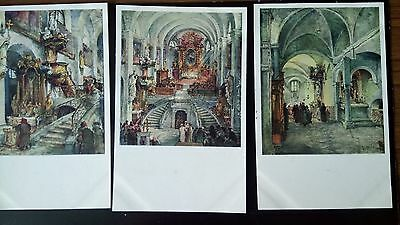Postcard: Prague, )  Set of 6 Artistic postcards 1939