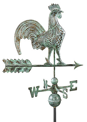 Copper Rooster Weathervane Weather Vane Arrow Antique Vintage Chicken Cock Hen