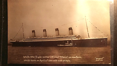 "S.S. ""TITANIC"": Shipping postcard Real Photograph"