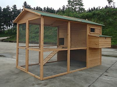 2017 GIANT Chicken Coop Poultry Cat Rabbit House CC058  upto 12 hens 8ft x 6ft