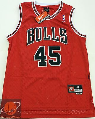 NWT Throwback Swingman Basketball Jersey MICHAEL JORDAN 45 Chicago Bulls Red Men