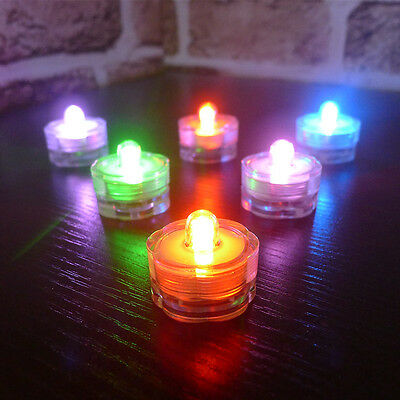 12 Flameless Candle Waterproof LED TeaLight Changing Colour Party Xmas Decor Din