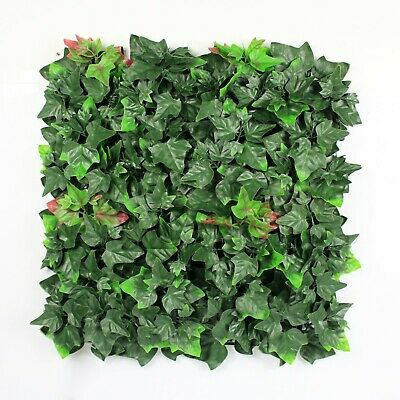 Balcony Garden Wall Artificial Plant Interlocking Tiles 50x50 cms UV Resistant