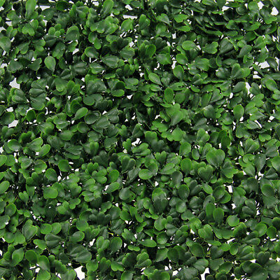 Garden Vertical Wall Hanging Artificial Plants Interlocking Tile Hedge UV Rated