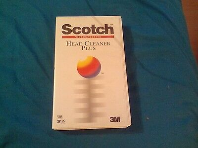 Scotch Head Cleaner Plus Cassette Vhs Used Once.