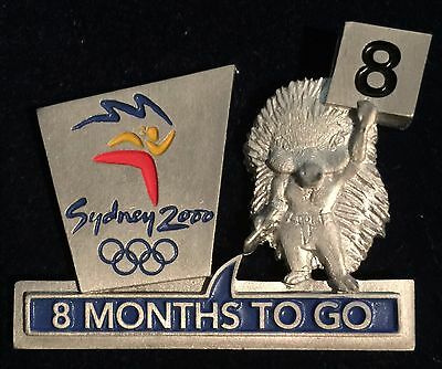 Sydney 2000 Olympic Pins - 8 MONTHS TO GO PIN