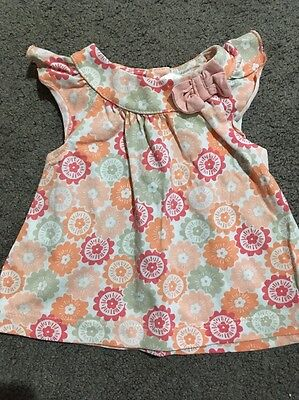 Baby Girls Short Sleeved Top Size 0-3 Months EUC