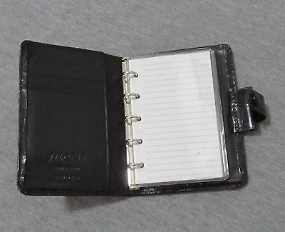 Filofax Leather Mini Ascot Organizer Diary Made In Usa ! Great