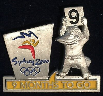 Sydney 2000 Olympic Pins - 9 MONTHS TO GO PIN