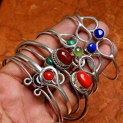 Coral Lot 8 Pcs Silver Plated Cuff Bracelet Jewellery AUI13503