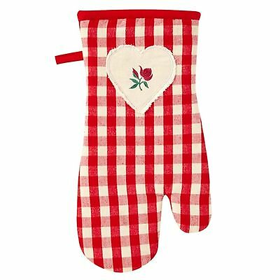 Ulster Weavers Red Gingham Gauntlet/ Single Oven Glove. WAS €9.95 - NOW €4.95