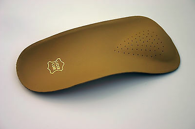 3/4 Orthotic Insole |+Pure Leather Cover |£7.99|Arch Support/Pronation/Flat Feet
