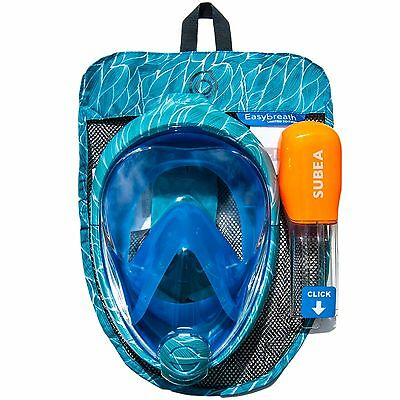NEW COLOURS  SUBEA EASYBREATH Full Face Snorkeling Mask With GoPro Camera Mount