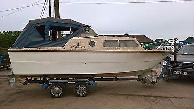 Norman 20 Cruiser boat and trailer