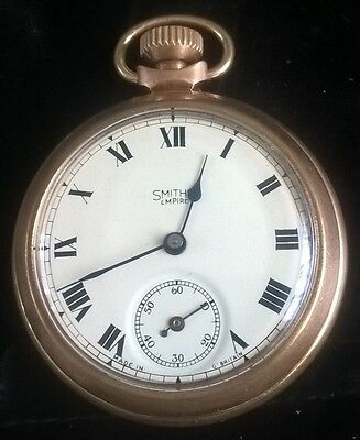 Smith Empire Vintage Pocket Watch (working) Base Metal (Gold Colour)