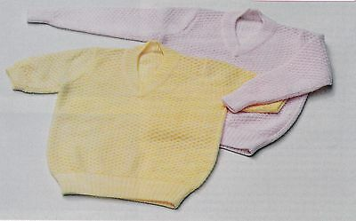 Child's V-Neck Multi-Style Sweater Pattern For Machine Knitting
