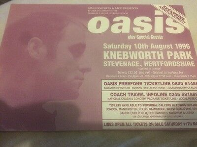 OASIS Knebworth August 1996 A6 Advert  Flyer.