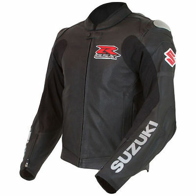 Suzuki Gsxr New Motorcycle Leather Black Racing Jacket Ce Approved All Sizes