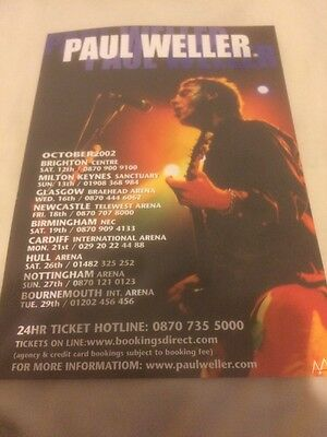 Paul Weller October 2002 A5 Tour Flyer