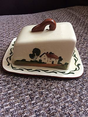 Beautiful Vintage Country House Cheese/butter Dish 1950s 👌