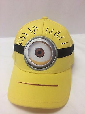 Boy Girl Despicable Me 2 Minion Stuart Kid Child Adjustable Baseball Hat Cap