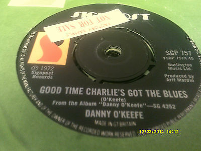 Danny O'keefe/good Time Charlie's Got The Blues Sgp757 Nm Signpost Sample 45