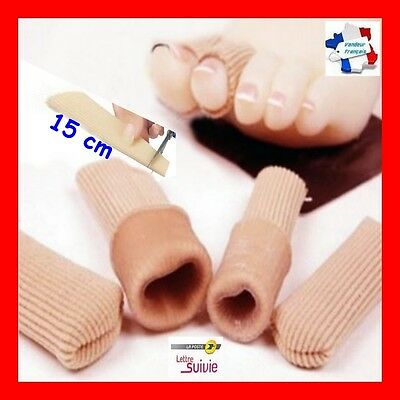 Tube gel tissu 15 cm silicone bandage protection antidouleur doigt, orteil,