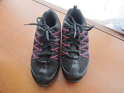 Black and Pink Bloch Dance Shoes Size UK 3