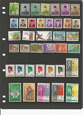 Selection of Indonesia Stamps Mint & Used, 2 Scans, App. 75 Stamps