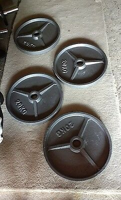 Olympic Cast Iron 20kg plates x4