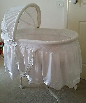 White Baby Bassinet with mattress