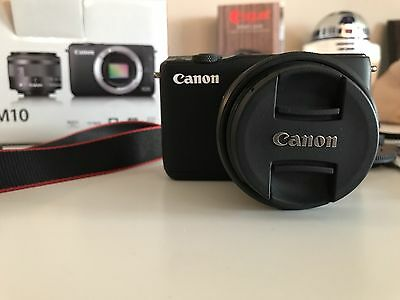 Canon EOS M10 18.0MP Digital Camera - Black (Kit w/ EF-M 15-45mm Lens)