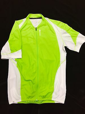 Sugoi Short Sleeve Jersey. Bright Green And White Medium Mens Race Fit.