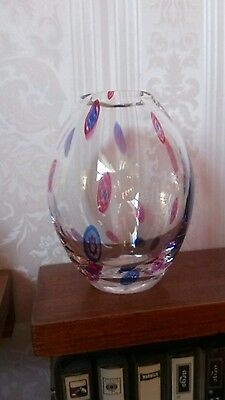 "Dartington Lead Crystal Ovoid Vase - 5"" high"