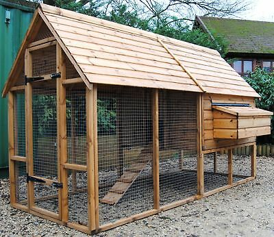 NEW Super Sandringham Chicken Coop Run 9ft x 4 1/2ft SPECIAL OFFER Up to 15 hens