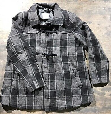 OLD NAVY Wool Blend Lined Plaid Jacket Top Coat SZ Large L Maternity Coat