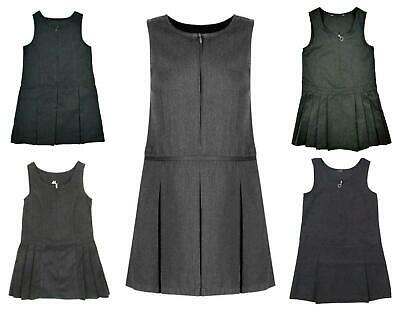 Girls School Pinafore Dress Grey Various Styles  (Ages 4-13)  Exstore
