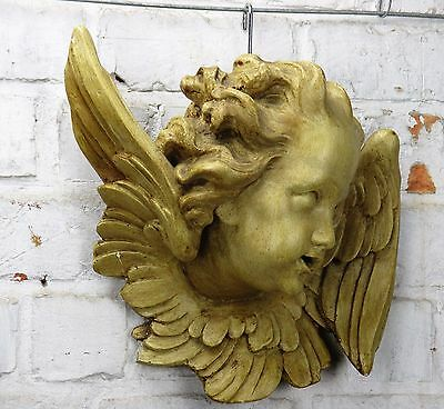 Angel Head Wall Hanging Figurine Statue Plaster Decoration Wall Plaque 3D