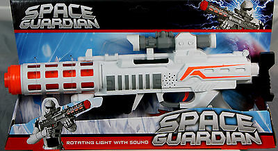 Large Space Gun Space Guardian Wars Combat Rifle Rotating Light & Sound Play Toy