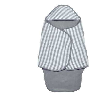Muslin Baby Bath Swaddle made from Organic Cotton-Gray-0/6mo