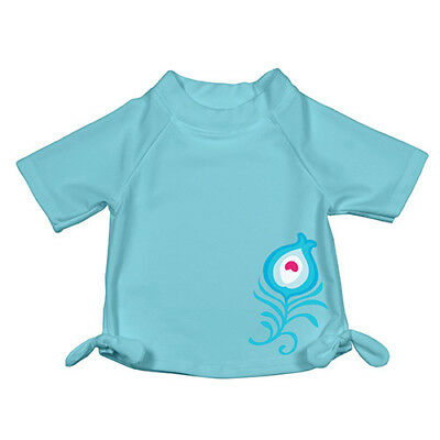 Mix and Match Short Sleeve Bow Rashguard - Aqua Geo