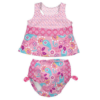 Mix N Match Tankini 2-piece - Pink Paisley