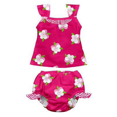 Mod Ultimate Swim Diaper 2pc Tankini Set - Fuchsia Pansy