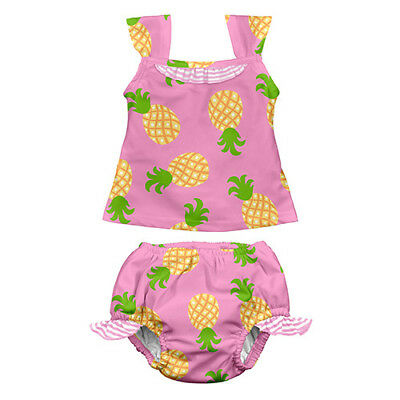 Mod Ultimate Swim Diaper 2pc Tankini Set - Light Pink Pineapple